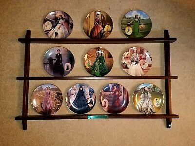 GONE WITH THE WIND, COSTUMING OF A LEGEND, 10 plate w/shelf collection