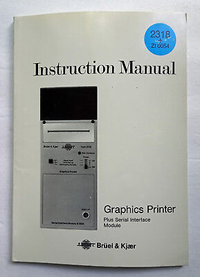Bruel & Kjaer 2318 & ZI 0054 Instruction Manual, Used