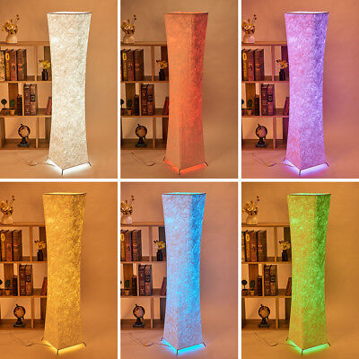 "52"" Modern LED Standing Floor Lamp RGB Color Changing Lanterns Light with Fabric"