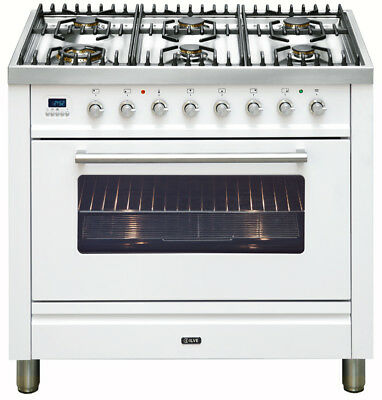 Ilve 90cm Gas Freestanding Cooker - NT906WVG/B