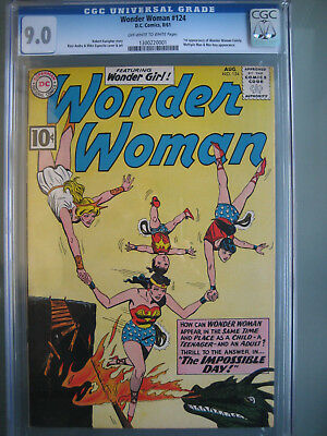 Wonder Woman #124 CGC 9.0 OWW **1st Wonder Woman Family** DC Comics 1961