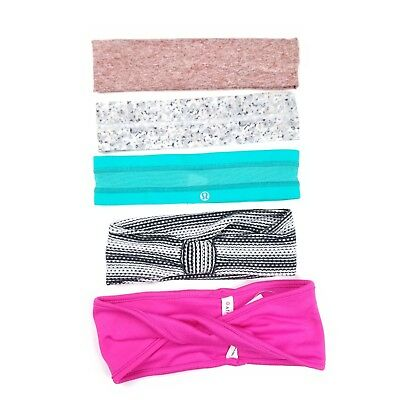Lululemon Athleta Beyond Yoga Lot Of 5 Headbands Athletic Work Outk Muti-Color