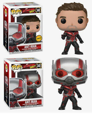 Funko Pop! Ant-Man and the Wasp: Ant-Man #340 Common and Chase w/ Box Protector