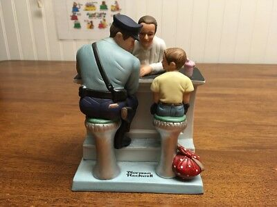 "Norman Rockwell ""The Runaway"" Figurine Series II The Danbury Mint Hand-crafted"