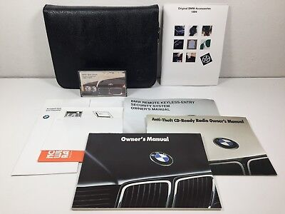 1994 BMW US 740i 740iL 750iL Owner's Manual with Case