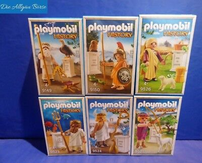 Playmobil 9149 9150 9523 9524 9525 9525 gr. Götter History Sonderedition Neu OVP