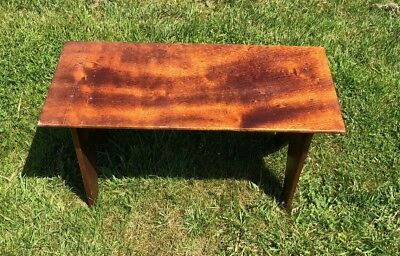 Beautiful Antique Vintage Hand Made Wooden Stool Table*