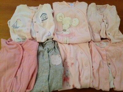 bundle sleepsuits Next & mothercare girl 0-3 months