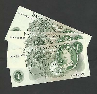 PAGE  £1 x 3   REPLACEMENTS CONSECUTIVE NUMBERS  B323