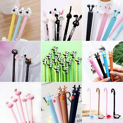 0.38MM Cute Cartoon Cat Gel Pens Kawaii Student Stationery Pen Office Supplies E