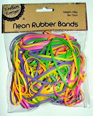 7.5cm Neon colour Elastic Rubber Strong Hairband Rope Ponytail Holder TPU Bands