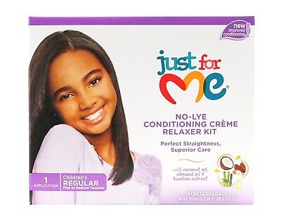 JUST FOR ME No-Lye Conditioning Creme Relaxer Kit Regular Superior Straightness