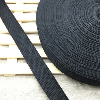 New 10/15/20/25/30/38/50MM Width Black Strap Nylon Webbing Strapping You Pick