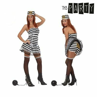 Costume per Adulti Th3 Party Carcerata sexy Taglia:M/L Th3 Party