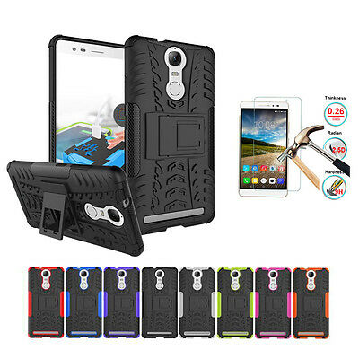 Rugged Shockproof Armor Hybrid Rubber Hard Case Cover Kickstand For Lenovo Phone