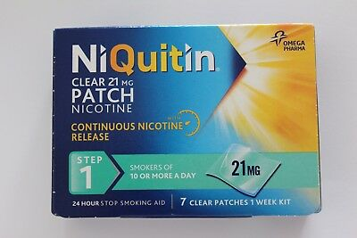 Niquitin Clear 21mg Patch Nicotine Step 1 - 7 Patches
