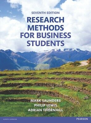 Research Methods for Business Students 7th Edition- (Original PDF Book)