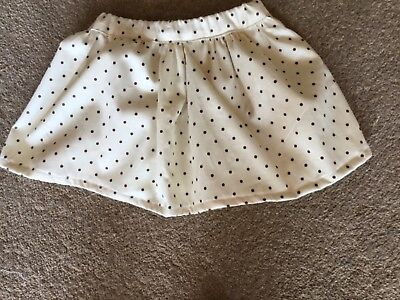 100% Cotton Skirt to fit toddler, handmade, beige with brown polka dots.