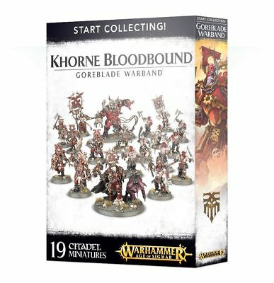 Start Collecting Khorne Bloodbound Goreblade Warband GW Age of Sigmar Chaos AOS