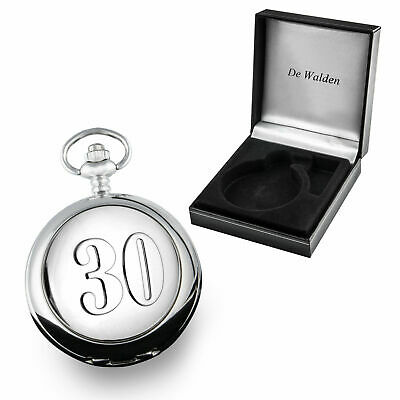 30th Wedding Anniversary Mother of Pearl Face Pocket Watch 30 Years Married Gift