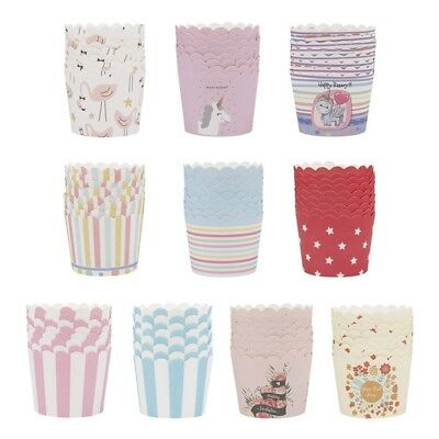 50Pcs/Set Disposable Baking Paper Cup Cupcake Cases For Home Party Supplies New
