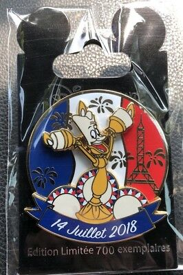 Disney Pin Trading - Lumiere - 14 Juillet/july - LE 700