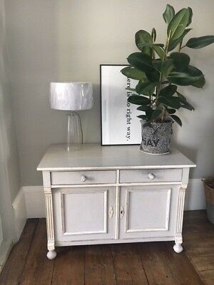 Antique Grey / white Painted side Board Cabinet