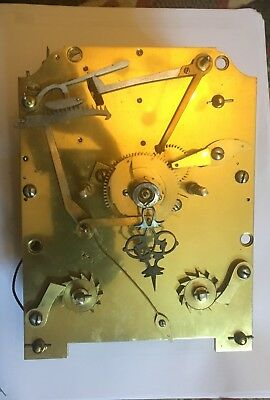 antique double fusee clock movement
