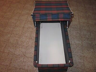 """Vintage 1970's HEDSTROM Navy Blue Baby Stroller CARRIAGE ATTACHMENT 31""""X14""""X21"""""""