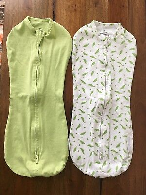 SwaddleMe Pod 2-Pack Baby Swaddle Green/pea in pod Ages 0 to 3 months