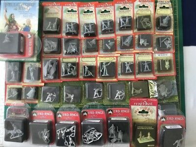 Mithril Miniatures Huge Lot 40 Blisters Plus Box Set Metal Rare Oop Lotr Hobbit