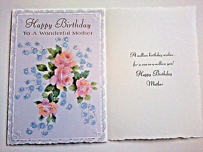1 birthday greeting cardenvelope mother mom love happy step friend 1 birthday greeting cardenvelope mother mom love happy step friend flowers wish m4hsunfo