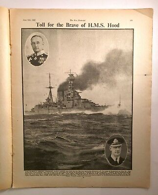 The WAR Illustrated Vol 4, No. 93 June 13, 1941 HMS Hood Abyssinia VG+