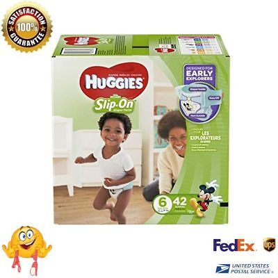 Pull Up Diapers HUGGIES Little Movers Slip On Pants Size 6 Easy Changing NEW