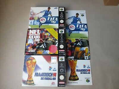 ✪ FIFA 99 + NFL 98 + Frankreich 98 N64 PAL nur OVP + Anl. Boxes + Manuals only ✪