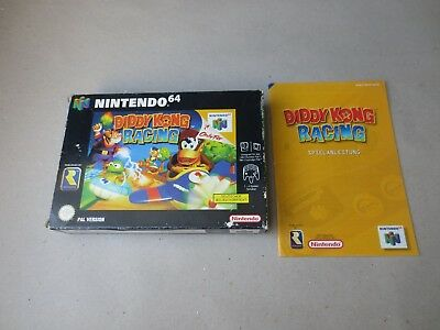 ✪ Diddy Kong Racing N64 Nintendo 64 PAL nur OVP + Anleitung Box + Manual only ✪