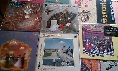 Rare Vintage Classical LP Records Job Lot of 5 Vienna Waltzes Songs Operetta