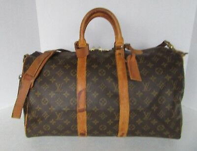 Louis Vuitton Monogram Bandouliere 45 VI0950 Duffel Travel Authenticity Verified