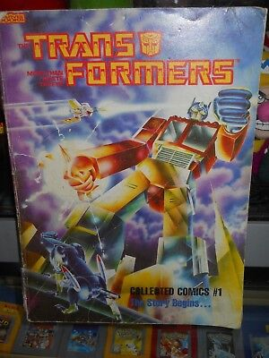 Vintage TRANSFORMERS Collected Comics #1 Marvel Children's Books Circa 1985