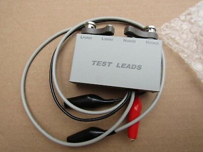 ISO-TECH LCR Test Leads - Test Fixture 2 Wire with Alligator Clips - A9 6666457