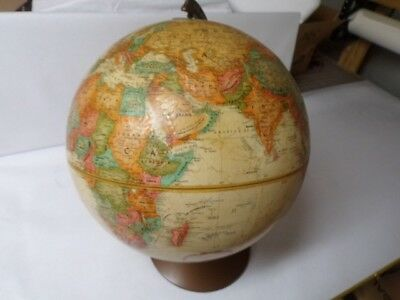 "Vintage Repogle 12 "" Globe 1950 S Great Condition Relief Texture"