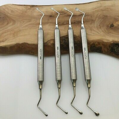 Set of 4 Lucas Bone Curettes Fig.85/86/87/88 10mm Handle CE Hu-friedy price £204