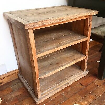 Fantastic Antique Solid Wood Rustic Shelves/side Table - Heavy