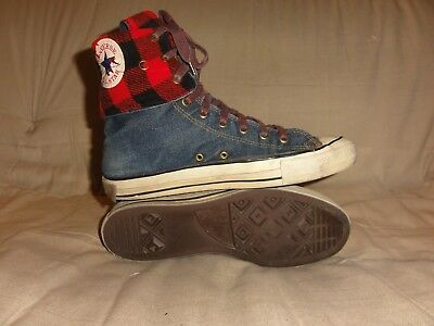 VINTAGE CONVERSE BLUE DENIM NEEHI SIZE 10 MENS 1980s MADE IN USA