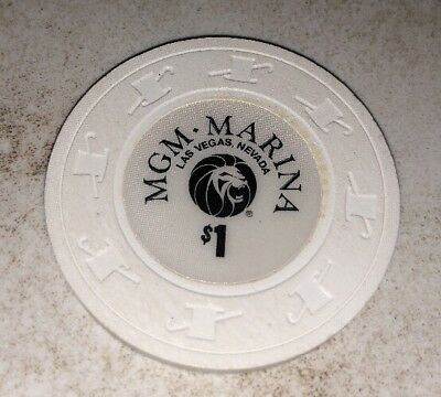 MGM Marina $1 Casino Chip Las Vegas Nevada 2.99 Shipping