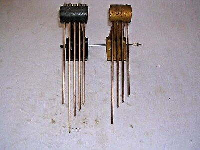 Clock  Parts ,   2  Standing Chimes , 5  /4