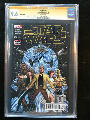 Star Wars #1 (2015) CGC 9.6 Signature Series Signed writer Jason Aaron (not CBCS
