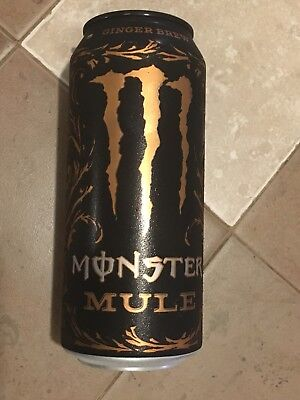 Monster Energy MULE Ginger Brew Drink 16oz. Can Limited Edition Rare