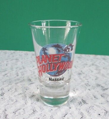 "Planet Hollywood Nassau, Shot Glass 3-1/2"" Tall Very Good Condition"