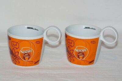 Nestle Nescafe Classic Coffee Collection Rare Cups / Mugs Set Of 2